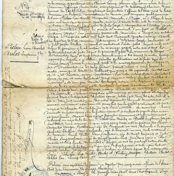 acte de mariage de 1876