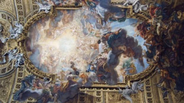 Plafond de la nef centrale basilique de Rome