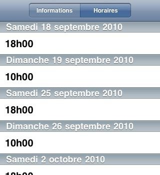 recherche horaires application Messe Info