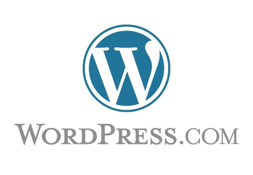 logo wordpress blanc