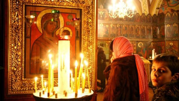 Noel orthodoxe icone vierge noire