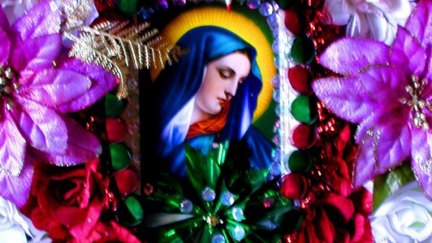 Vierge fleurie mexicaine
