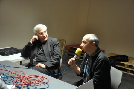 Rencontre Mgr Di Falco et Stijn Coninx