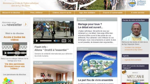 capture ecran site diocese clermont novembre 2012