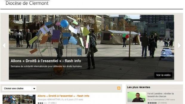 capture ecran web tv diocese clermont